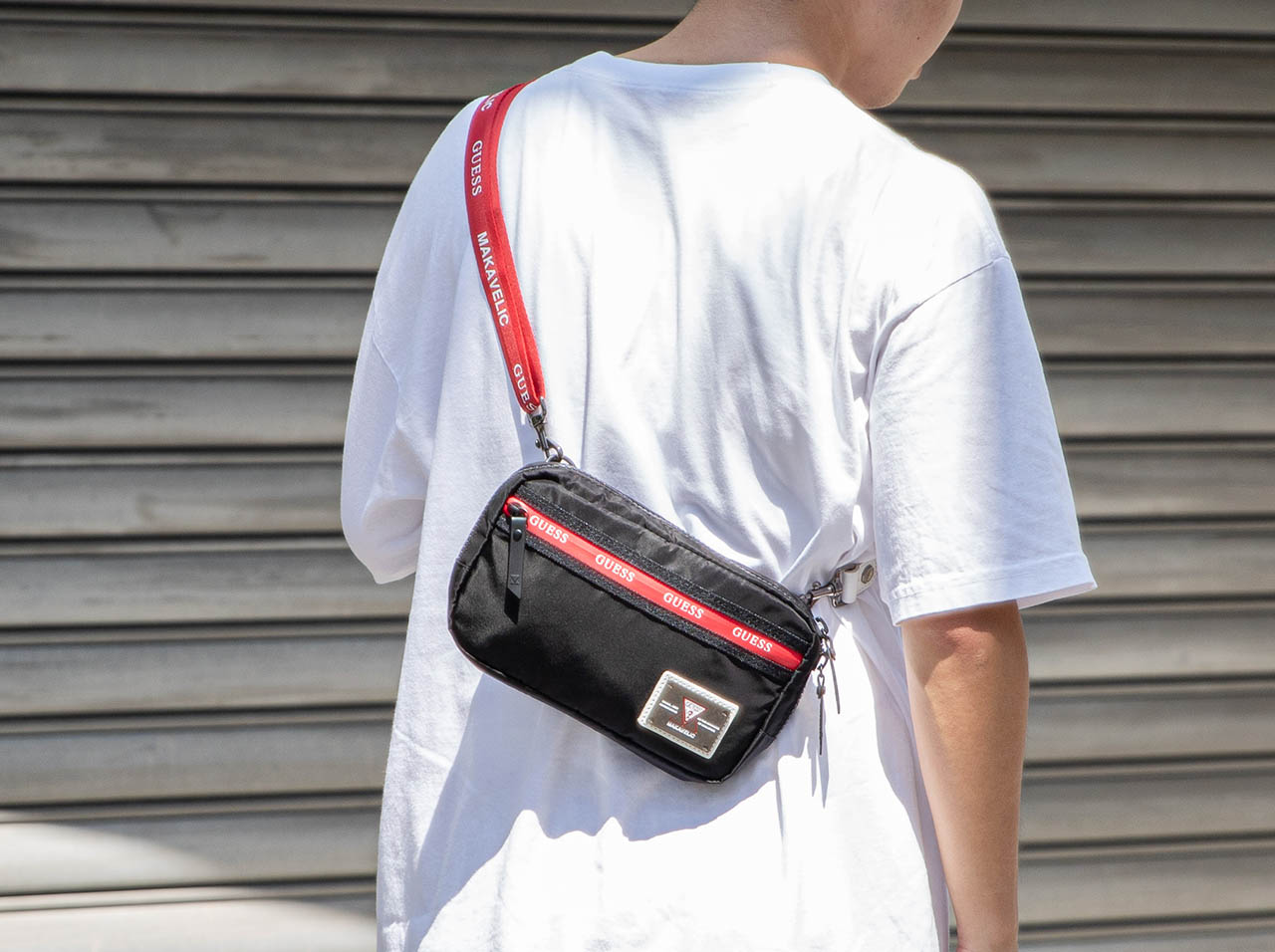GUESS POUCH MAKAVELIC BAG(3109-10515)【マキャベリック】【カバン】【バッグ】【リュック】【ストアレビュー記載でソックスプレゼント対象品】