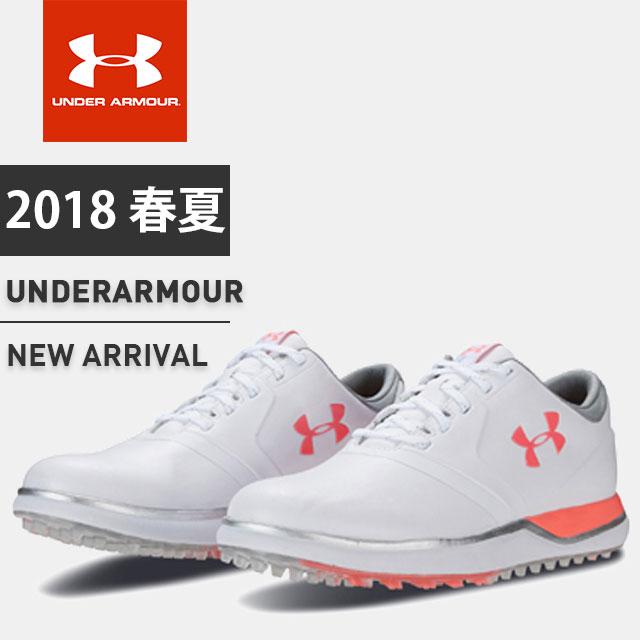 アンダーアーマー レディース ゴルフ シューズ 靴 UA パフォーマンスSL 防水 スパイクレス Bフィット 1297176 UNDER ARMOUR