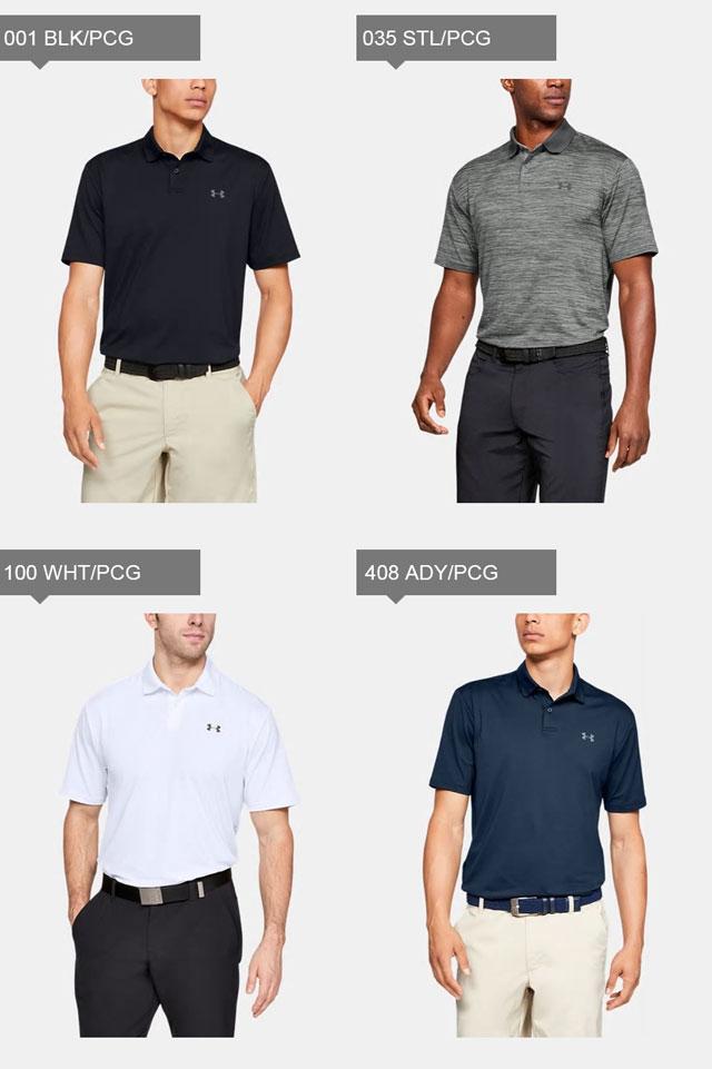アンダーアーマーメンズゴルフポロシャツ半袖ボタンUAパフォーマンスポロルーズ吸汗速乾抗菌防臭UVカット1342080UNDERARMOUR