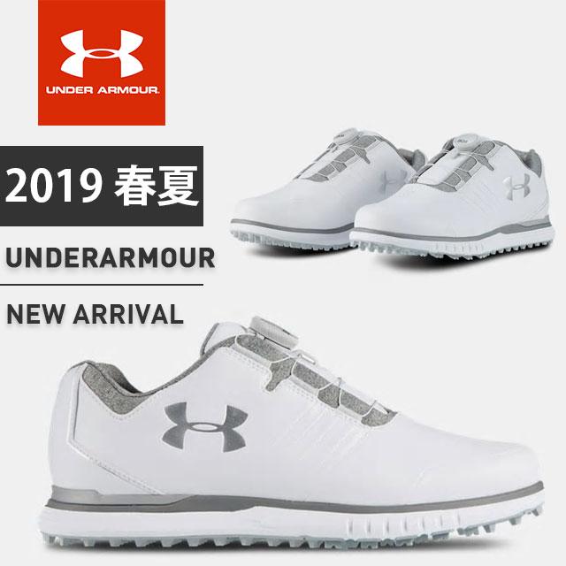 アンダーアーマー メンズ ゴルフシューズ 靴 ボア UA ショーダウンスパイクレスベントボ BOA スパイクレス 防水 幅広 軽量 3022257 UNDER ARMOUR