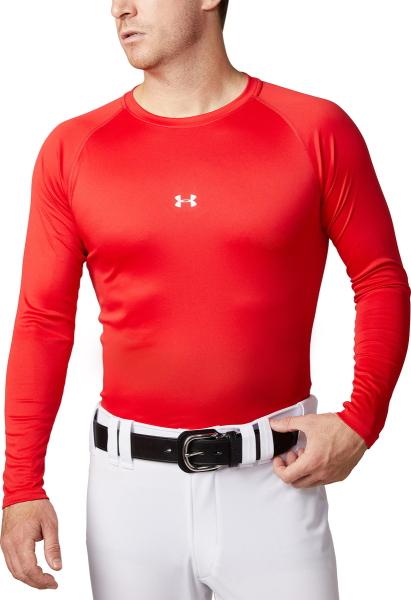 全品送料無料  公式 アンダーアーマー UNDER ARMOUR UAスピードテック フィッティドロングスリーブクルー ベースボール 野球 ベースレイヤー メンズ 1331487 トレーニング