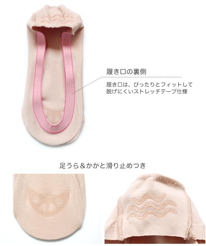 yoridori 3分1080日圆 Hanako Hanako Lady's女士女用淺口無扣無帶皮鞋覆蓋物脚罩左右專用的脚型穿,有口&脚ura&脚後跟shi防滑物,難以掉下來的伸展帶子(23cm/24cm/25cm)