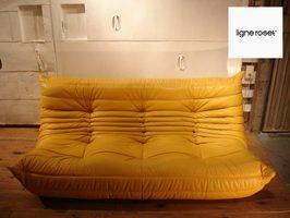SALE Ligne Roset / Lean Rose TOGO/ Togo 3 Sheet Sofa Hides Yellow France  List