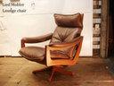 出售撒了谎 Mobler 带领莫布里的躺椅上挪威北欧家具皮革 / 皮革 / 柚木木材木材木材布朗的椅子上,椅子 EKORNES / ekornes 沙发更愿意参考零售价格 300000 日元