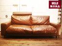 也出售无印良品 / 无印良品金井皮革沙发棕色皮革皮革 2.5 单座羽绒和羽毛北欧家具像椅子椅子椅子价格 157000