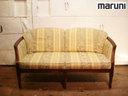 出售瑪魯裡然和瑪尼木材地中海系列皇家查理斯生活 2 座沙發椅子椅子椅子仿古傢俱,諸如木材、 價格 383400 日元