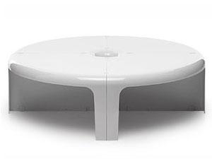 Quattro Quarti /クアトロ クアルティ ホワイト テーブル シェルフ 4パーツ1セット スペースエイジ B-line/ビーライン イタリア 正規品【新品】
