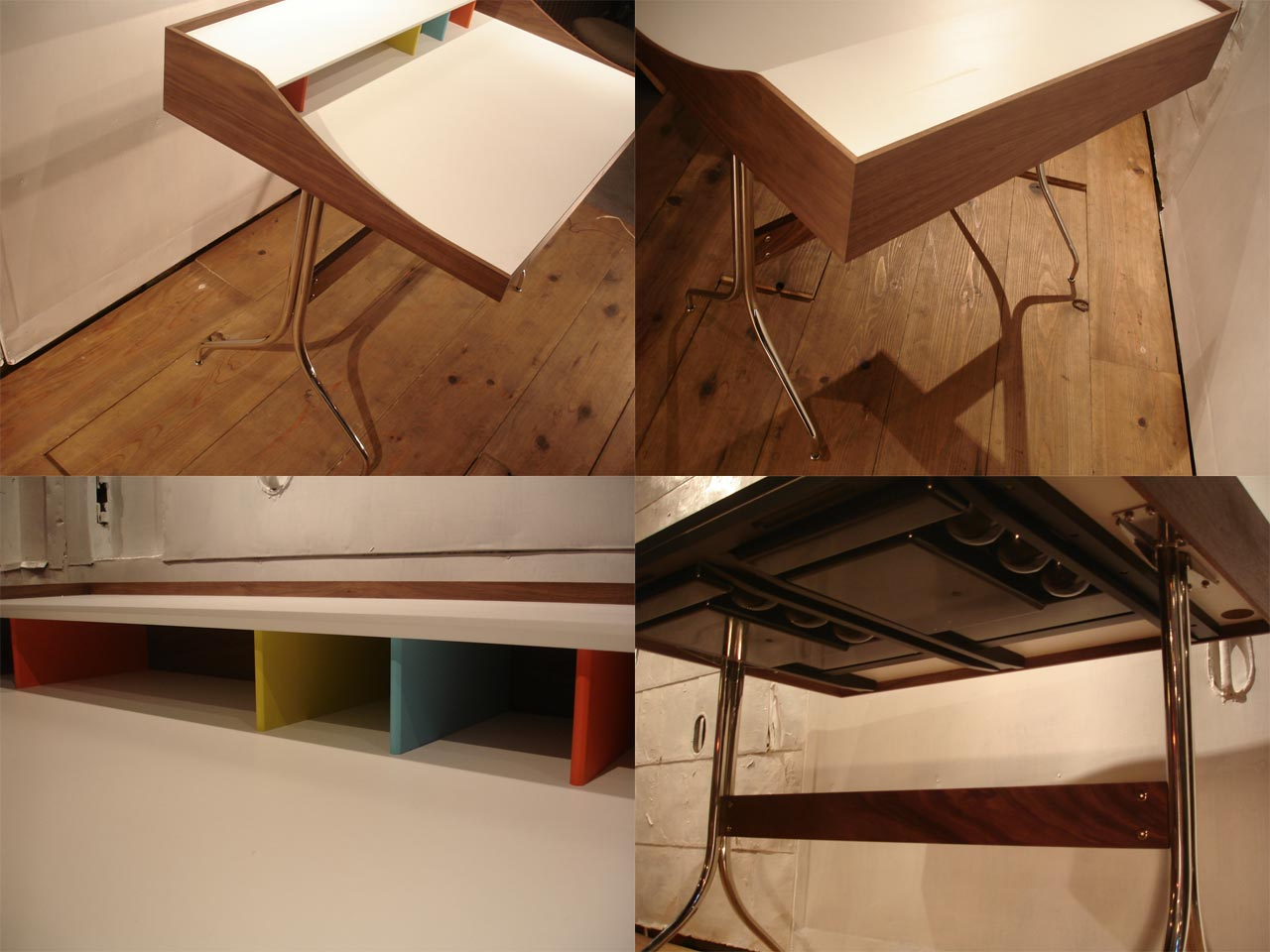 Gergenelson / George Nelson Swag Leg Desk Mid Century Desk Eames Furniture  Like Also Taking Part