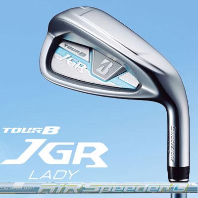 BRIDGESTONE GOLF【TOUR B JGR】LADY レディース アイアン 5本セット(#7-9、PW、SW) AiR Speeder for Iron カーボンシャフト