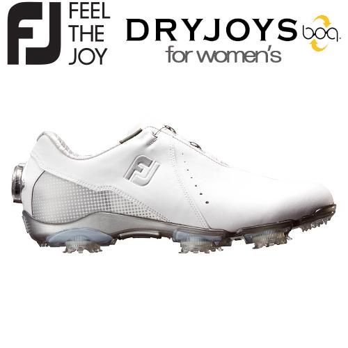FOOTJOY【フットジョイ】DRYJOYS Boa for women レディース ゴルフシューズ 99068 ホワイト/シルバー【ドライジョイ】