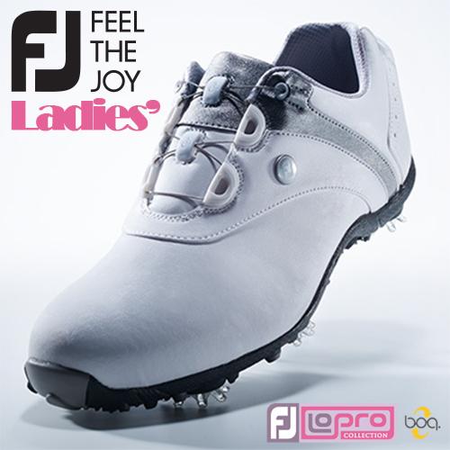 FOOTJOY【フットジョイ】LoPro SPORTS SPIKE Boa レディース ゴルフシューズ 97180 ホワイト/シルバー