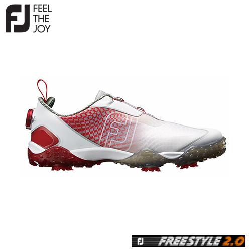 FOOTJOY【フットジョイ】FJ FREESTYLE 2.0 Boa メンズ ゴルフシューズ #57351 レッド/ホワイト【フリースタイル 2.0 ボア】送料無料