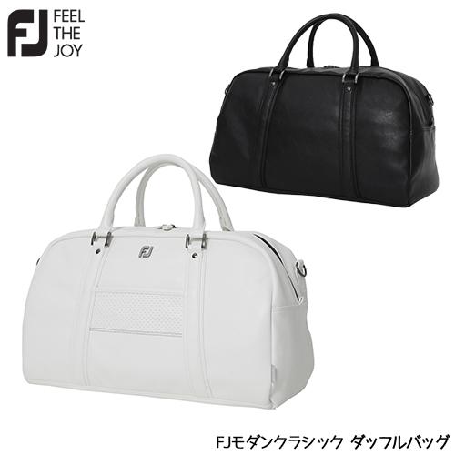 白色と黒色を基調とするFJモノトーンシリーズ プレゼント FOOTJOY フットジョイ FJモダンクラシック 激安通販専門店 2021年モデル ボストンバッグ ダッフルバッグ 21