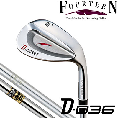 FOURTEEN【フォーティーン】【D-036】ウェッジ DYNAMIC GOLD or N.S.PRO 950GH HT スチールシャフト