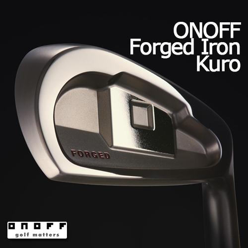 ONOFF【オノフ】 FORGED IRON KURO 2017 アイアン 5本セット(#6-#9、46°) SMOOTH KICK MP-717I カーボンシャフト【グローブライド】GLOBERIDE