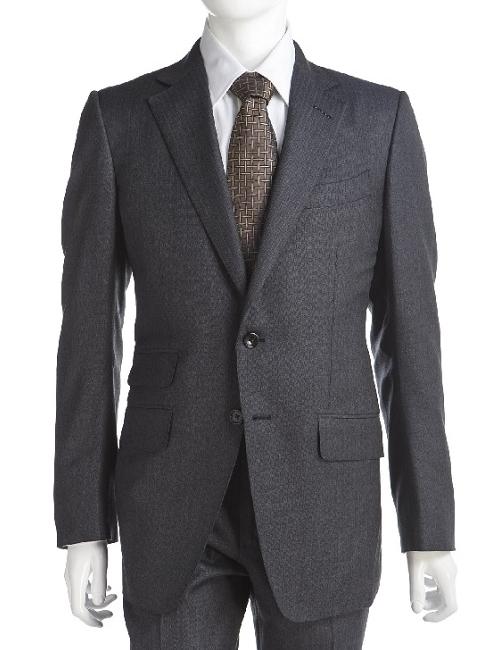 トムフォード TOM FORD トムフォード スーツ 2ボタン サイドベンツ メンズ 24YA4C 816R23 ダークグレイ 送料無料 楽ギフ_包装 アウトレット G-SALE 【ラッキーシール対応】