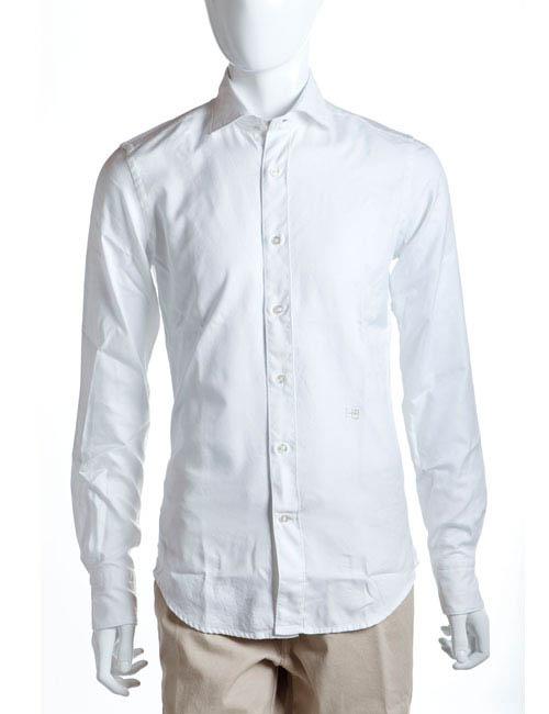ハイドロゲン HYDROGEN シャツ 長袖 メンズ 102045 ホワイト HYD値下 目玉商品 【ラッキーシール対応】