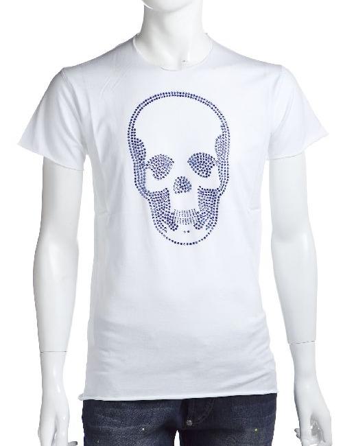 ルシアンペラフィネ lucien pellat-finet ペラフィネ Tシャツ メンズ EVH1474 ホワイト×ブルー 送料無料 楽ギフ_包装 LPF値下 【ラッキーシール対応】