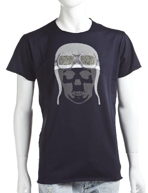 ルシアンペラフィネ lucien pellat-finet ペラフィネ Tシャツ 半袖 丸首 メンズ EVH1476 ネイビー 送料無料 楽ギフ_包装 LPF値下 【ラッキーシール対応】