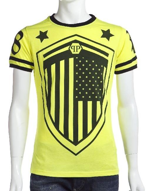 フィリッププレイン PHILIPP PLEIN Tシャツ 半袖 丸首 メンズ SS14 HM341138 イエロー 送料無料 楽ギフ_包装 アウトレット 目玉商品17AW 【ラッキーシール対応】