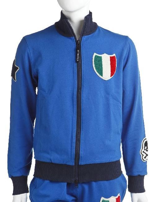 ハイドロゲン HYDROGEN トレーナー トラックジャケット メンズ 148001 BLUE ITALIA 目玉商品 【ラッキーシール対応】