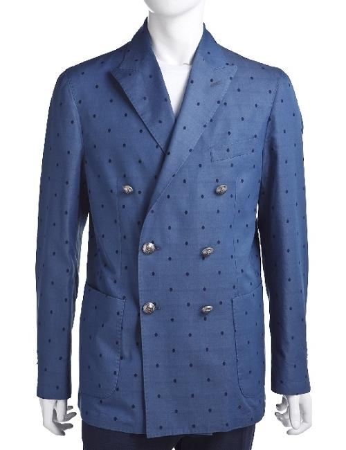 ハイドロゲン HYDROGEN ジャケット ダブル サイドベンツ メンズ 140305 ブルー 目玉商品 【ラッキーシール対応】