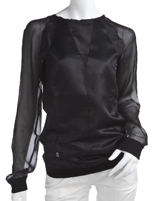 フィリッププレイン PHILIPP PLEIN フィリッププレイン シャツ 長袖 シースルー レディース SS14 CW332174 ブラック 送料無料 楽ギフ_包装 目玉商品 G-SALE 【ラッキーシール対応】