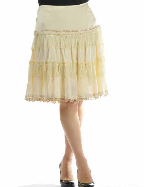 エルマンノシェルビーノ ERMANNO SCERVINO ひざ丈スカート レディース D82C518 RL アイボリー 送料無料 目玉商品