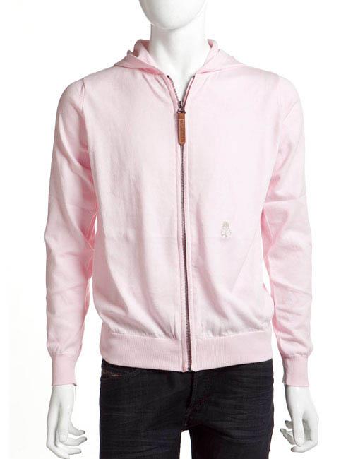 ハイドロゲン HYDROGEN セーター 長袖 ジップアップ ニットパーカー メンズ 107006 ピンク HYD値下 目玉商品 【ラッキーシール対応】