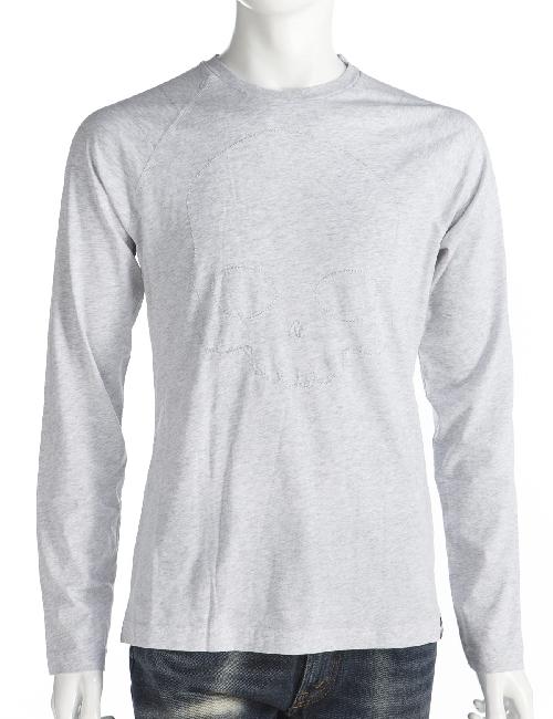 ハイドロゲン HYDROGEN ロングTシャツ ロンT メンズ 154008 グレー ハイドロゲン HYDROGEN 【ラッキーシール対応】