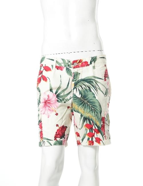ハイドロゲン HYDROGEN ハーフパンツ ショートパンツ メンズ 160517 RED FLOWERS HYD底値挑戦 【ラッキーシール対応】