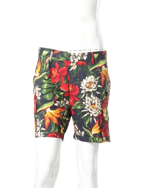 ハイドロゲン HYDROGEN ハーフパンツ ショートパンツ メンズ 160517 RED WHITE FLOWERS HYD底値挑戦 【ラッキーシール対応】