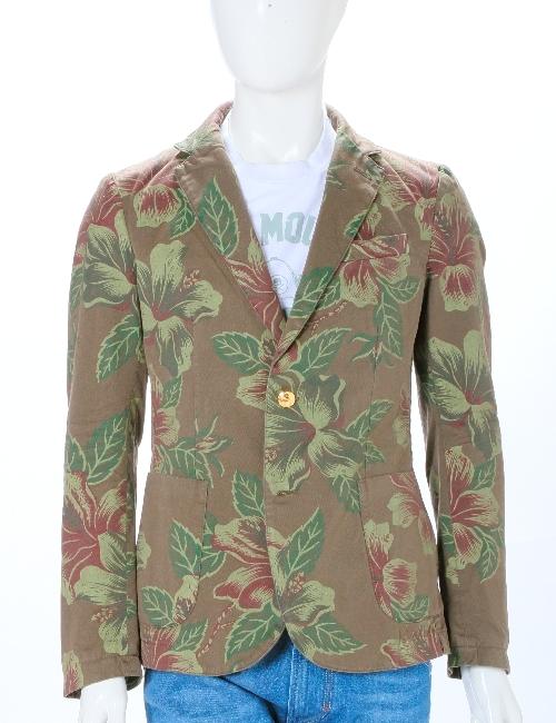 ハイドロゲン HYDROGEN ジャケット 2ボタン サイドベンツ シングル メンズ 160503 DARK GREEN FLOWERS HYD底値挑戦 【ラッキーシール対応】