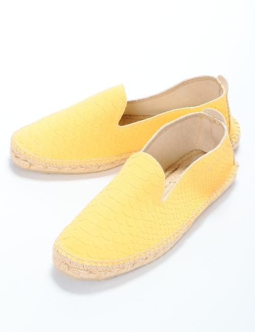 マネビ MANEBI シューズ スリッポン 靴 メンズ J30C00 イエロー 送料無料 目玉商品 【ラッキーシール対応】
