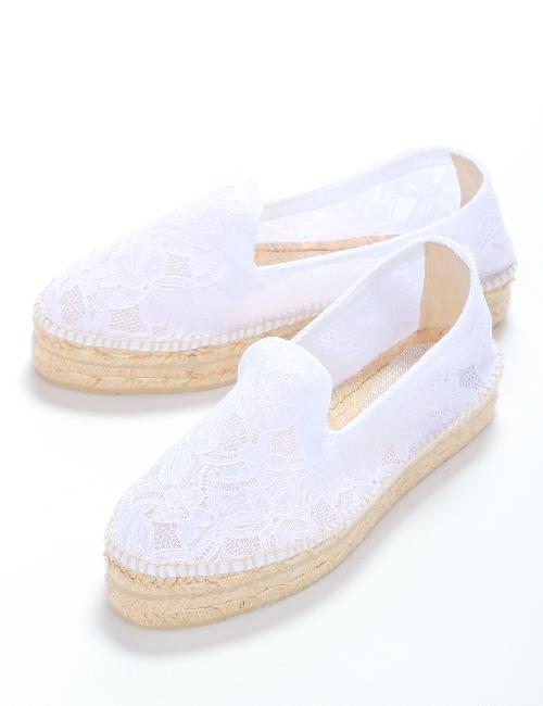 マネビ MANEBI シューズ スリッポン 靴 レディース J42D00 ホワイト 送料無料