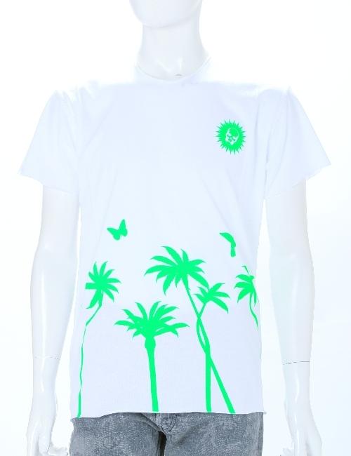 ルシアンペラフィネ lucien pellat-finet ペラフィネ Tシャツ メンズ EVH1620 ホワイト×グリーン 送料無料 アウトレット 目玉商品3弾 【ラッキーシール対応】