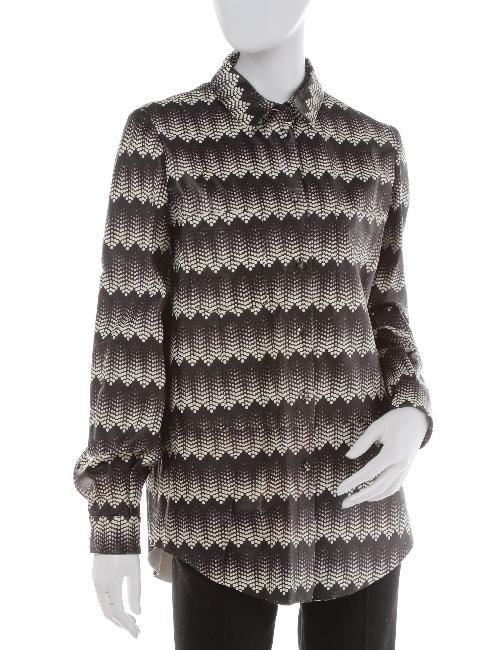 ドローム DROME レザーシャツ レディース DPD0398 D596 ブラック×ホワイト 送料無料 目玉商品