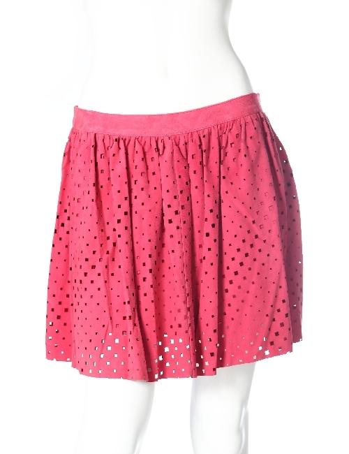 ドローム DROME レザースカート ドローム DROME レディース DPD1220 D352 ピンク 送料無料 アウトレット 目玉商品3弾 【ラッキーシール対応】