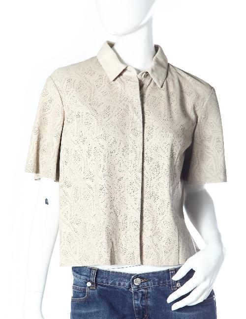 ドローム DROME レザーシャツ ドローム DROME レディース DPD0361 D146 ホワイト 送料無料 アウトレット 目玉商品3弾 【ラッキーシール対応】
