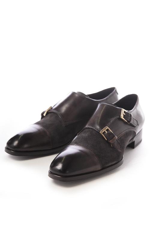 マックスヴェッレ MAXVERRE シューズ モンク 2ベルト 靴 メンズ MV845 ダークブラウン 送料無料 【ラッキーシール対応】