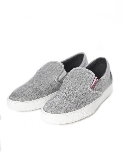 ディースクエアード DSQUARED2 スリッポン 靴 メンズ W15SN407167 グレー 【ラッキーシール対応】