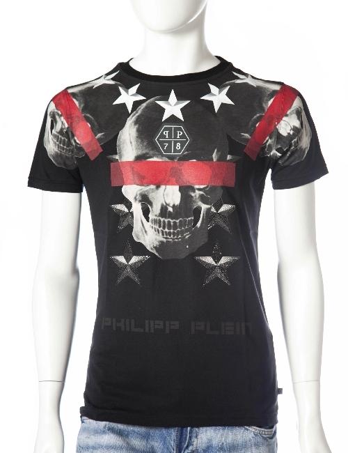 フィリッププレイン PHILIPP PLEIN Tシャツ 半袖 丸首 メンズ FW15 HM345047 ブラック 送料無料 楽ギフ_包装 アウトレット 目玉商品17AW 【ラッキーシール対応】