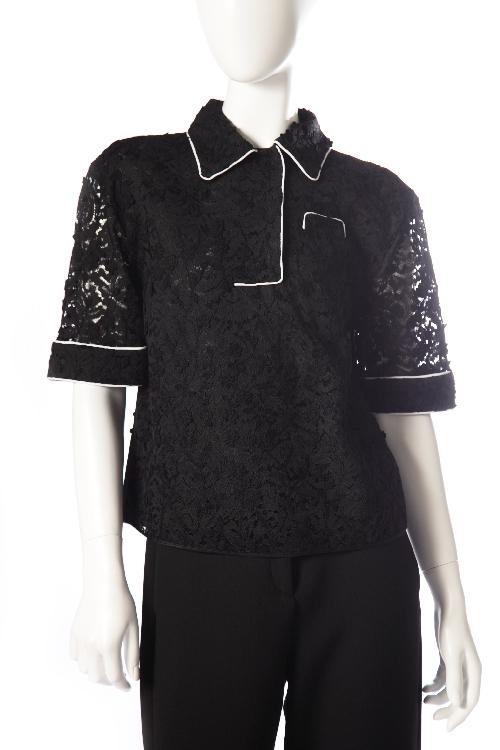 ヌメロヴェントゥーノ N°21 シャツ 半袖 レディース G142 4123 ブラック 送料無料 楽ギフ_包装