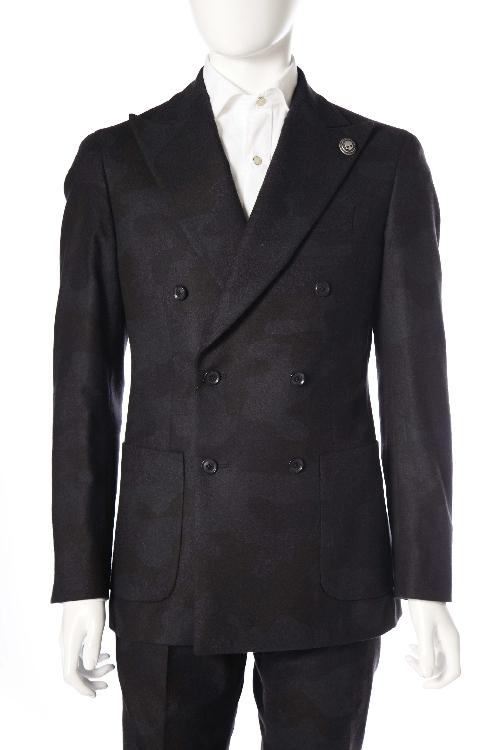 ハイドロゲン HYDROGEN スーツ 6ボタン サイドベンツ ダブル ハイドロゲン メンズ 170302 ANTHRACITE メイサイ 【ラッキーシール対応】