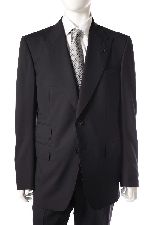 トムフォード TOM FORD スーツ 2つボタン サイドベンツ シングル メンズ T22R13 21AL41 R ネイビー 送料無料 アウトレット 【ラッキーシール対応】
