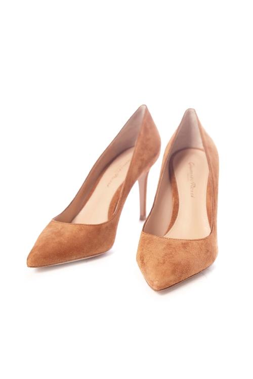 ジャンヴィトロッシ GIANVITO ROSSI パンプス ハイヒール CAMSELL 靴 レディース G24580 85RIC ブラウン 送料無料 アウトレット 【ラッキーシール対応】
