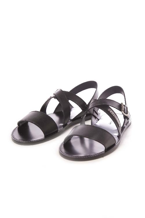 ディースクエアード DSQUARED2 サンダル レザーサンダル 靴 メンズ S16SA402015 ブラック 送料無料