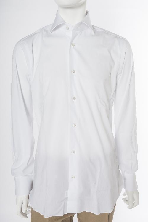 バルバ BARBA シャツ 長袖 メンズ 481301U ホワイト 送料無料 楽ギフ_包装 目玉商品20180313 【ラッキーシール対応】
