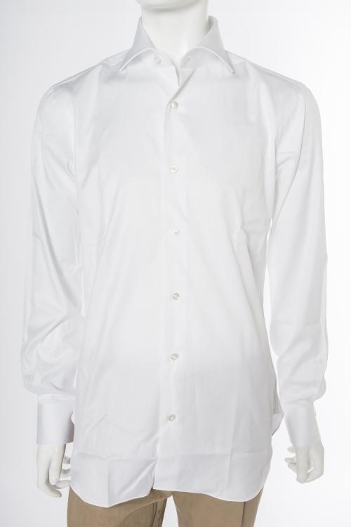バルバ BARBA シャツ 長袖 メンズ 480205U ホワイト 送料無料 楽ギフ_包装 目玉商品20180313 【ラッキーシール対応】