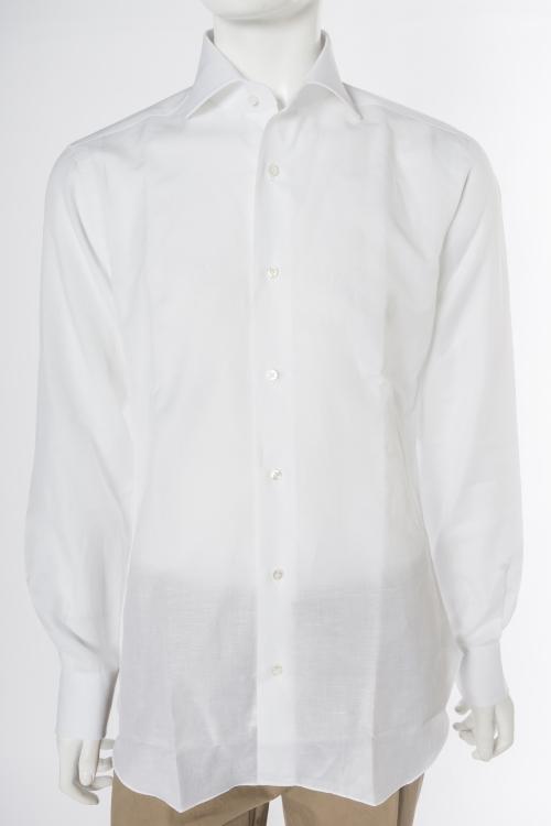 バルバ BARBA シャツ 長袖 メンズ 480411U ホワイト 送料無料 楽ギフ_包装 目玉商品20180313 【ラッキーシール対応】